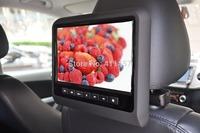 one pair 9''headrest monitor with digital panel games IR FM USB SD