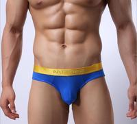 Best price Brand Men briefs Ice wire mesh briefs Man perspective underwear Men wide-brimmed underwear