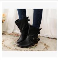 Women Autumn Ankle Boots Low Heels Shoes Woman Female Black Brown SZHP X-A668