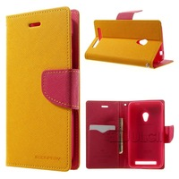 Original MERCURY Case Goospery Fancy Diary Magnetic Leather Stand Cover for Asus Zenfone 4 A450CG 1PCS Free Shipping