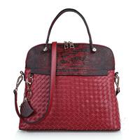 Genuine leather female bags handbag casual knitted women's cowhide handbag shell bag messenger bag 0528