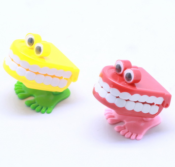 New Wind Up Teeth Classic Toys Kids Baby Plastic Learning Educations Toy -Pinata Wedding Kits(China (Mainland))