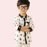 Casual children's clothing male child 2015 spring and autumn child shirt long-sleeve cotton 100%