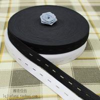 Maternity 2cm grommet elastic strap clothes accessories handmade diy accessories black-and-white 2cm adjustable elastic strap