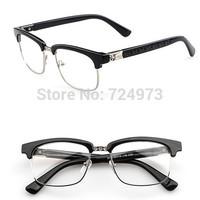 Vintage style hot sale half-frame unisex outdoors fashion eyeglasses frames/Europe designers brand optical fashion glasses
