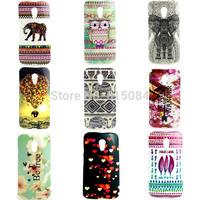 10PCS Animal Flower Tribal Back Case For Motorola Moto G2 G 2nd Gen XT1068 XT1069 Soft TPU Flower Mobile Phone cover 2pcs/lot