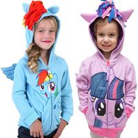 Girl's cartoon winter coat! Children Hoodies, Girls jacket Children's Coat, girls Cotton Jacket children clothing,