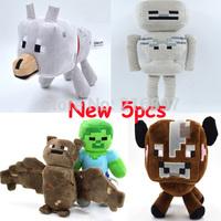 Minecraft New Coming 5pcs/lot Bat & Skeleton & Zombie & Wolf Minecraft 2014 Christmas Game Cartoon Toys brinquedos