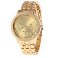 Luxury Men Watch Gold Quartz Watch Fashion Men Watches Free Shipping