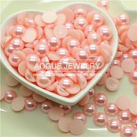 1.5-12mm 10000-300pcs/lot flat back light pink half pearl DIY jewelry accessories