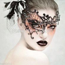 frauen gefiederten venezianischen maskerade masken für ein Maskenball spitze blume schwarz(China (Mainland))