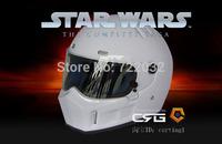 StarWars motorcycle helmet Full face glass fiber reinforced plastic helmet Star Wars pig helmet White ATV - 13