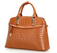 women's handbag genuine leather shell bag 2014 first layer cowhide handbag hot sale women messenger bag Crocodile women bags