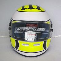 Motorcycle ran full face helmet winter white bright yellow helmet F1 helmet glass