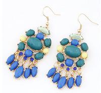 2014 Vintage Fashion Crystal Dangle Earrings For Women Chandelier Earrings bijoux women brincos christmas gifts EH054