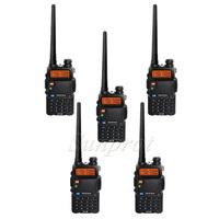 5pcs BAOFENG UV-5R Dual Band Two Way Transceiver FM Radio UV5R 128CH VHF 136-174MHz UHF 400-520MHz display walkie talkie 10km