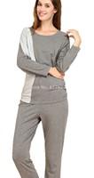 2014Women's Comfortable Round Neck Loungewear Pajama Nightie Set Sleepwear nightgown pajamas winter robe Free shipping