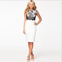 Sexy Bodycon Dresses 2014 White Bodycon Dress Plus Size Fashion Women Summer Clothing Dress Sleeveless Big Size L Female Clothes