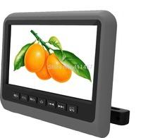 one pair 9''car headrest monitor with digital panel games IR FM USB SD