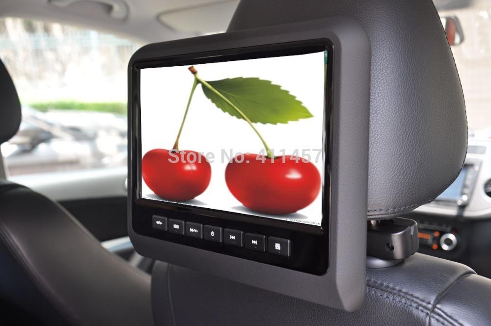 one pair 9 inch headrest car dvd player fm with digital panel games IR FM USB SD(China (Mainland))