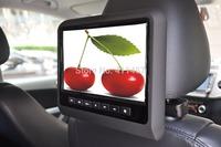 one pair 9 inch headrest car dvd player fm with digital panel  games IR FM USB SD