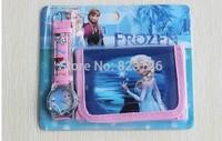Free Shipping frozen watch kids fashion cartoon frozen wallet Cute Girl woman lady watches Children watch