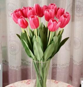 Искусственные цветы шелк цветок тиснением тюльпан одной ветви размещены цветочный стол украшения украшения сада гостиная