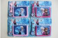 10pcs/lot frozen watch kids fashion cartoon frozen wallet Cute Girl woman lady watches Children watch Free Shipping