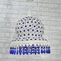 Modern European- led living room chandelier crystal pendant lamp bedroom lamp creative porch balcony staircase chandelier lamp