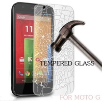 500pcs/lot Ultra-thin Clear LCD Tempered Glass Screen Protector Guard Film for Motorola Moto G X1032