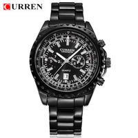 Hot! CURREN Brand Luxury Business Men Digital Watch, Automatic Date, Waterproof Stainless Steel Quartz Watch