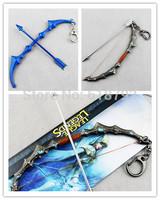 New arrival LOL Ashe - The Frost Archer arrow keychain League of legend anime bow and arrow