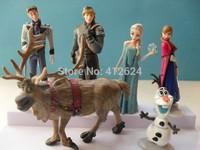 6Pcs Set Frozen Figure Play Set Frozen Princess Anna Elsa Hans Kristoff Sven Olaf movie Cartoon Anime doll toy Drop shipment