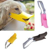 Dog Protection Tool Cute Pet Dog 3D Muzzle Duck Face Lip Mouth Guard Mask Bite Bark Prevent Stopper DP871725