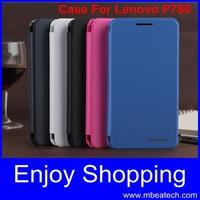 one pcs original Leather PU Flip Case Back Cover for Lenovo P780 phone case cover