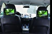 one pair 9''car seat back headrest dvd monitor with digital panel games IR FM USB SD