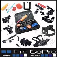 Gopro Accessories Professional Tripod For Camera Go pro Hero 2 3 4 SJ 4000 5000 Sj6000 Go-pro Case Monopod Floating Bobber Kit