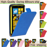 Crazy Horse Texture Vertical Flip Leather Case for Nokia Lumia 620 Free shipping HKPAM CPAM