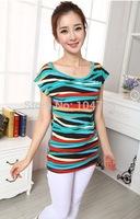 women lady T-shirt  lady  fashion shirt short sleeve multi color XT_003094  S-XL brand new free shipping