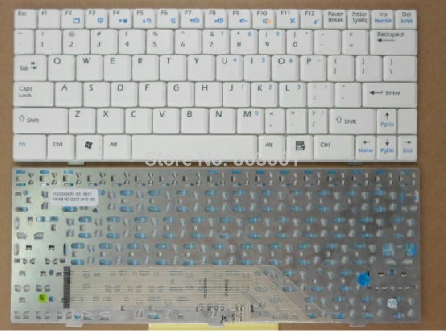 QWERTY Hot sale laptop computer keyboard for MSI U100 U100X U9 U90 U90X US Layout(China (Mainland))