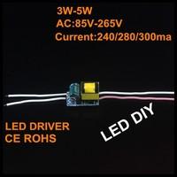 5X Led Driver 3W-5W Lamp Driver Power Supply Lighting Transformer AC85-265V for LED Strip Floodlight