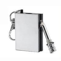 1 PCS New Stainless Steel Permanent Fire Starter Metal Match Lighter With key Ring Keyring Cigarette lighter