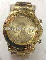 2014 hot sell newest roles fashion luxury brand men full Steel Watch Automatic Mechanical Self Wind Watch male clock daytona