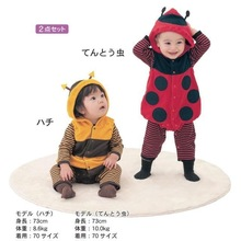Cartoon Animal Style Cotton - padded Baby 's Romper Baby Ladybug and bees Jumpsuit of Autumn and Winter Clothing(China (Mainland))