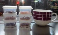 size small  plastic food container PP picnic vacuum box portable keep fresh storage organizer microwavable box 6pcs