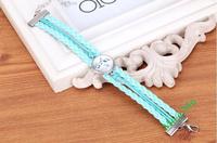 New Frozen children's rope bracelet high quality Elsa princess Anna Pendant handmade christmas gift hot