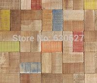 Wholesale Glass Mosaic tile wooden effect Mosaic multi mixed mosaic tile