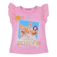 2014 Fashion cartoom Princess short Chiffon T shirts/ girl t shirt B001