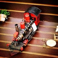 Vintage iron steam model metal craft decoration