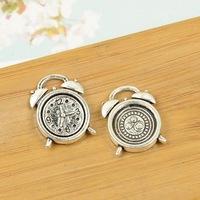 100pcs/lot A3289 antique silver clock  shape alloy charm pendant fit jewelry making 18x13.3mm Wholesale